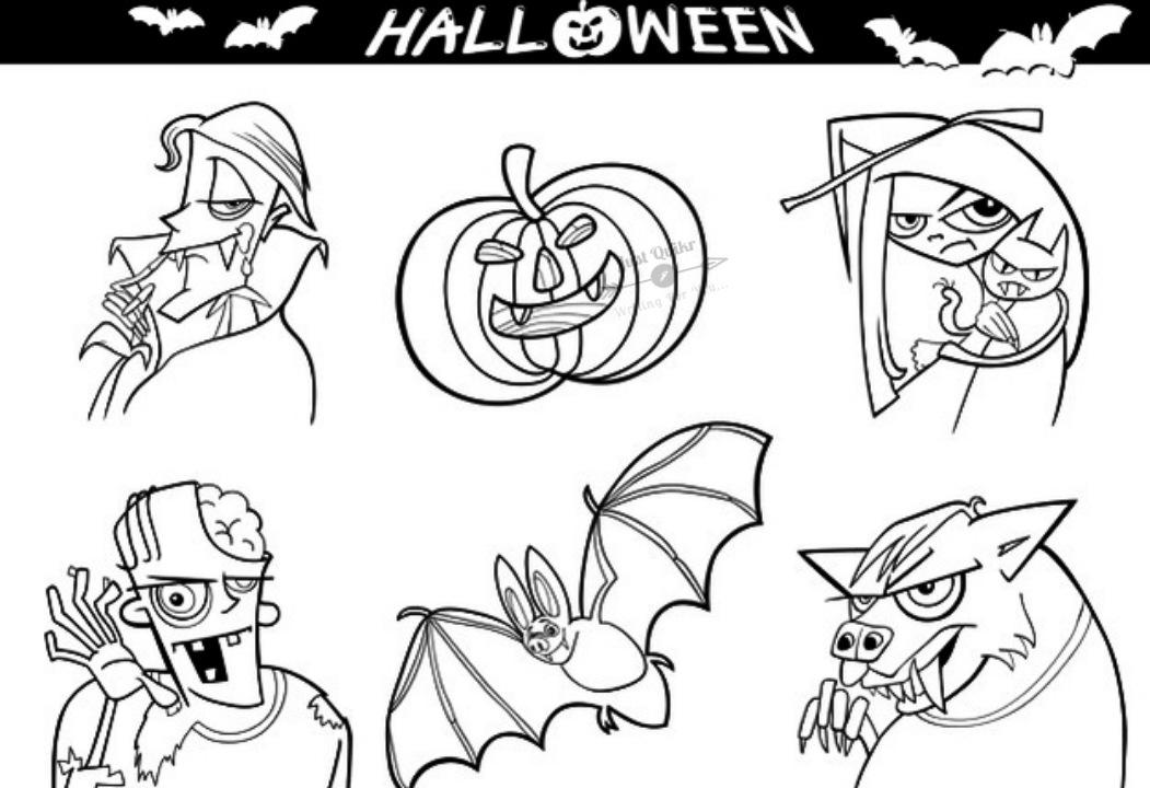 Halloween Day Cartoon Werewolf Drawing