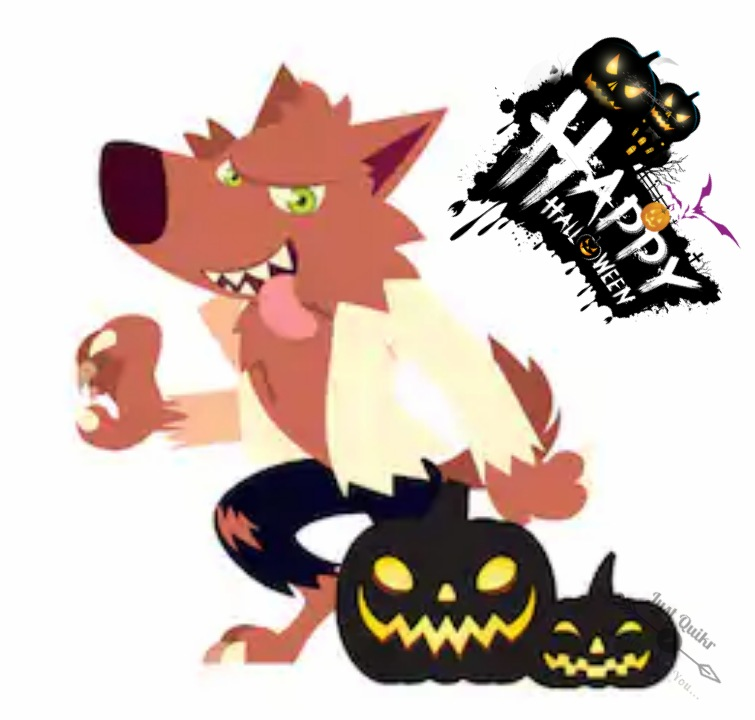 Halloween Day Cartoon Werewolf HD Images Pics Pictures