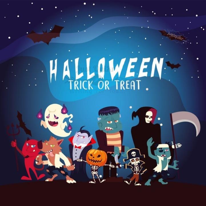 Halloween Day Cartoon Werewolf Romance Pictures