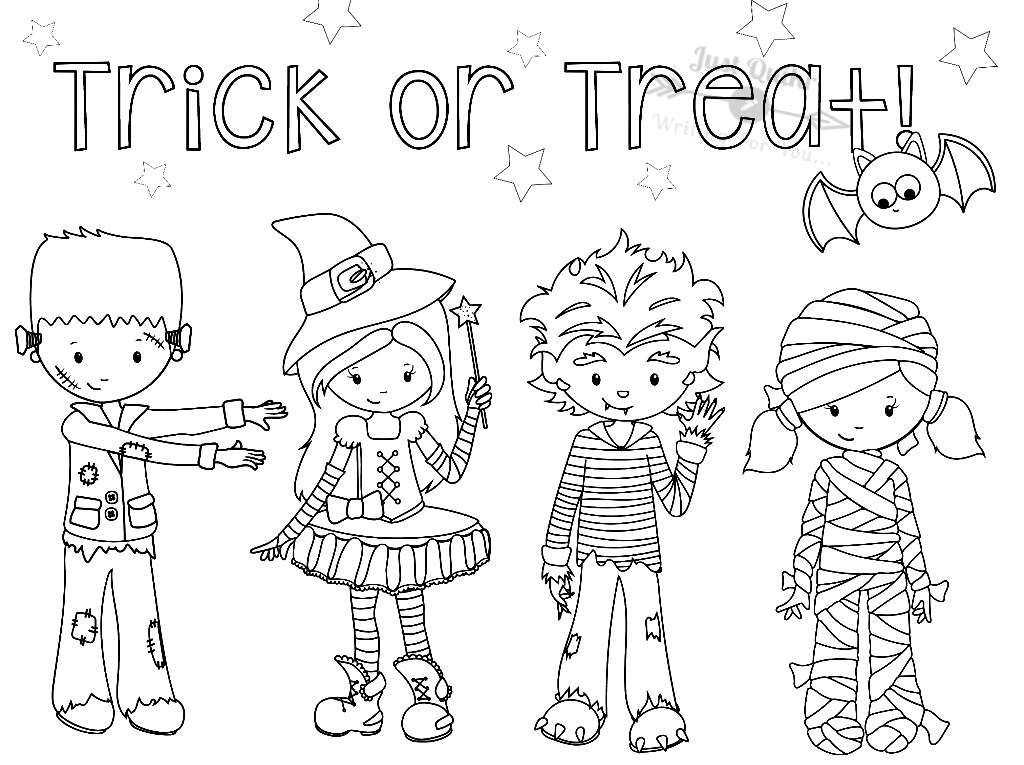 Halloween Day Coloring Pages Drawings for Birthday