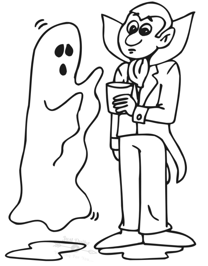Halloween Day Coloring Pages Drawings for Ghost