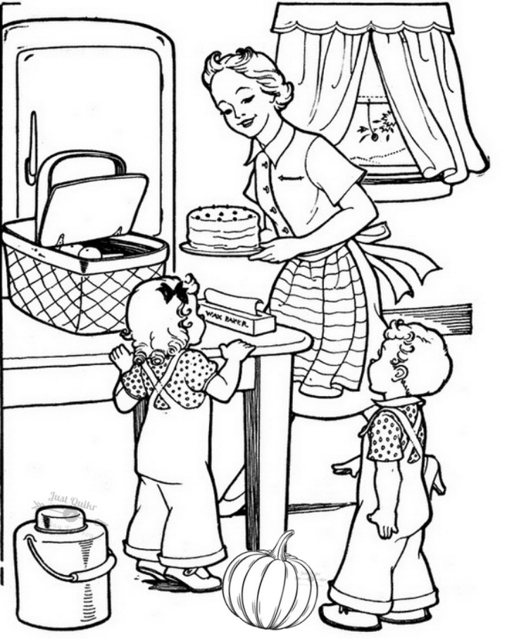Halloween Day Coloring Pages Drawings for Grandpa and Grandma