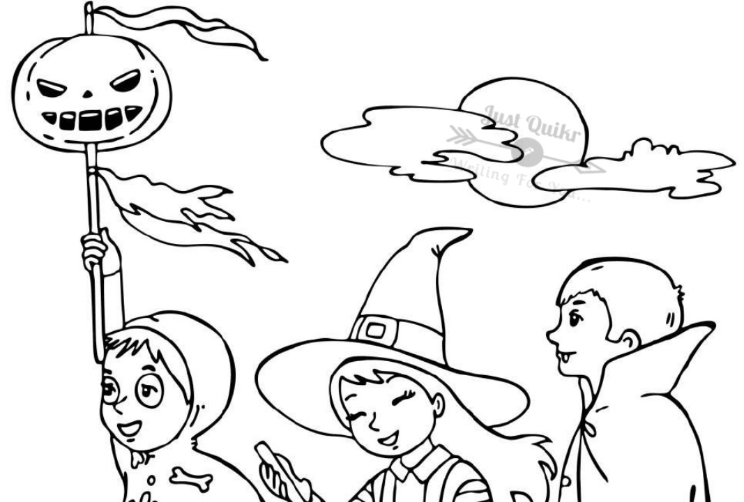 Halloween Day Coloring Pages Drawings for Toddlers
