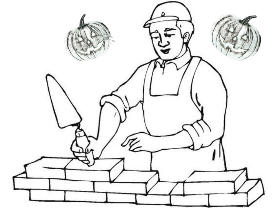 Halloween Day Coloring Pages Drawings for Labour Day