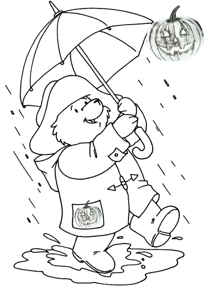 Halloween Day Coloring Pages Drawings for Rainy Day