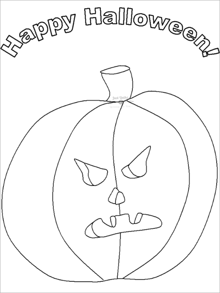 Halloween Day Coloring Pages Drawings for Seniors Printable
