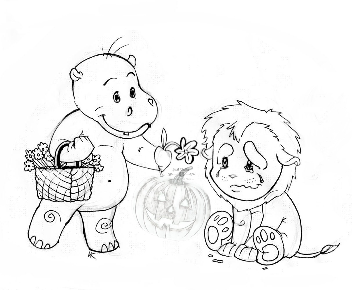 Halloween Day Coloring Pages Drawings for World Kindness