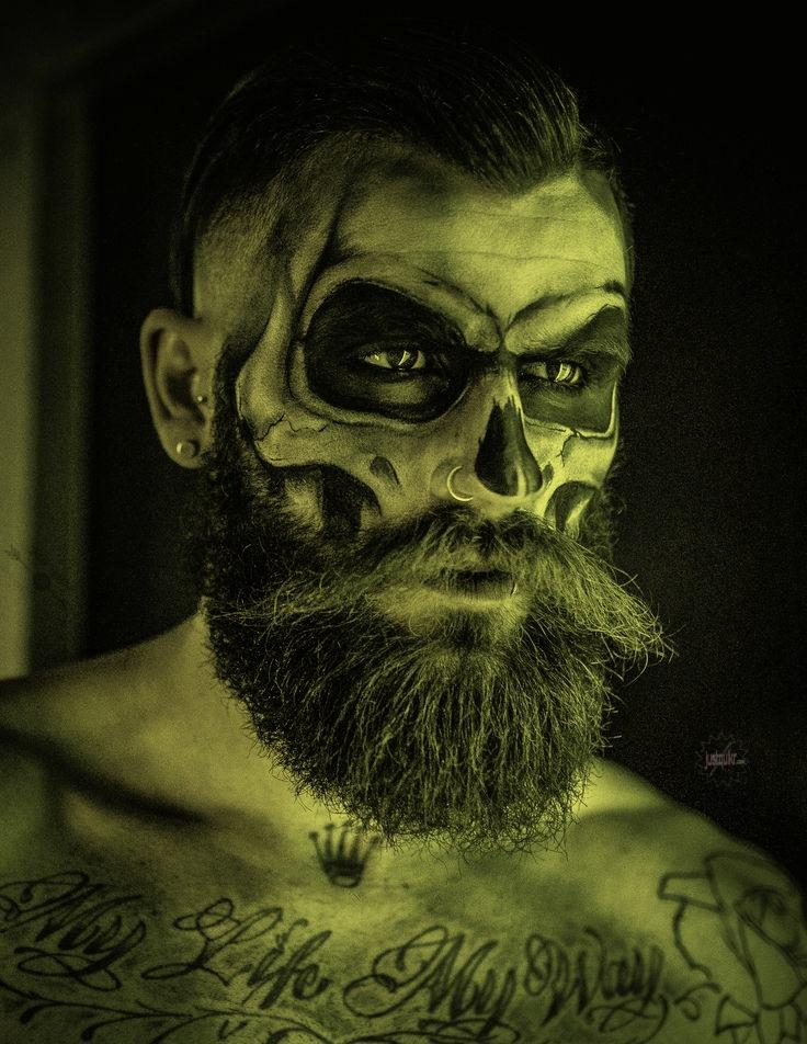 Halloween Day Painting With Beard