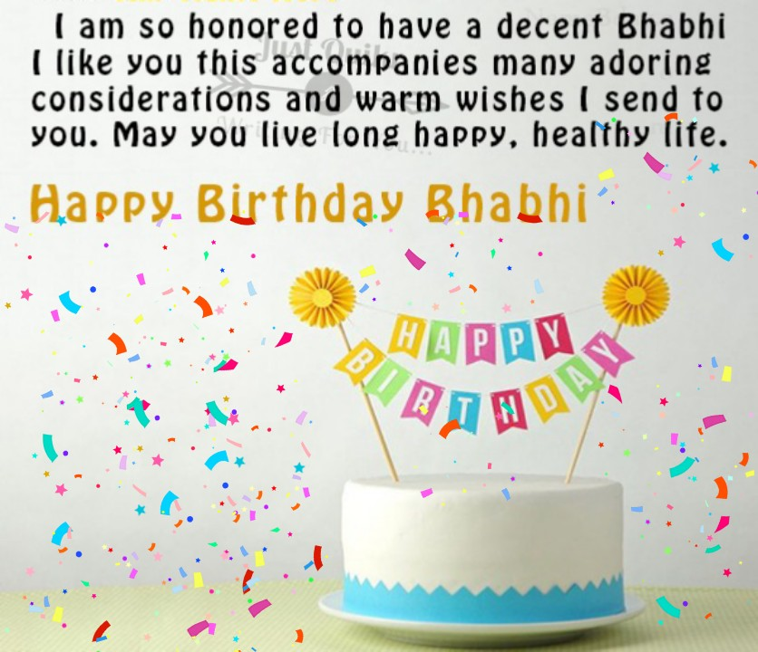Happy Birthday Cake HD Pics Images with Wishes Quotes for Bhabhi Ji