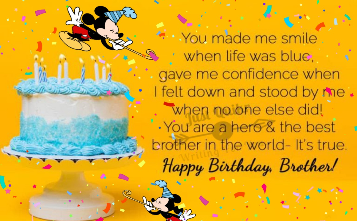 Happy Birthday Cake HD Pics Images with Wishes Quotes for Brother