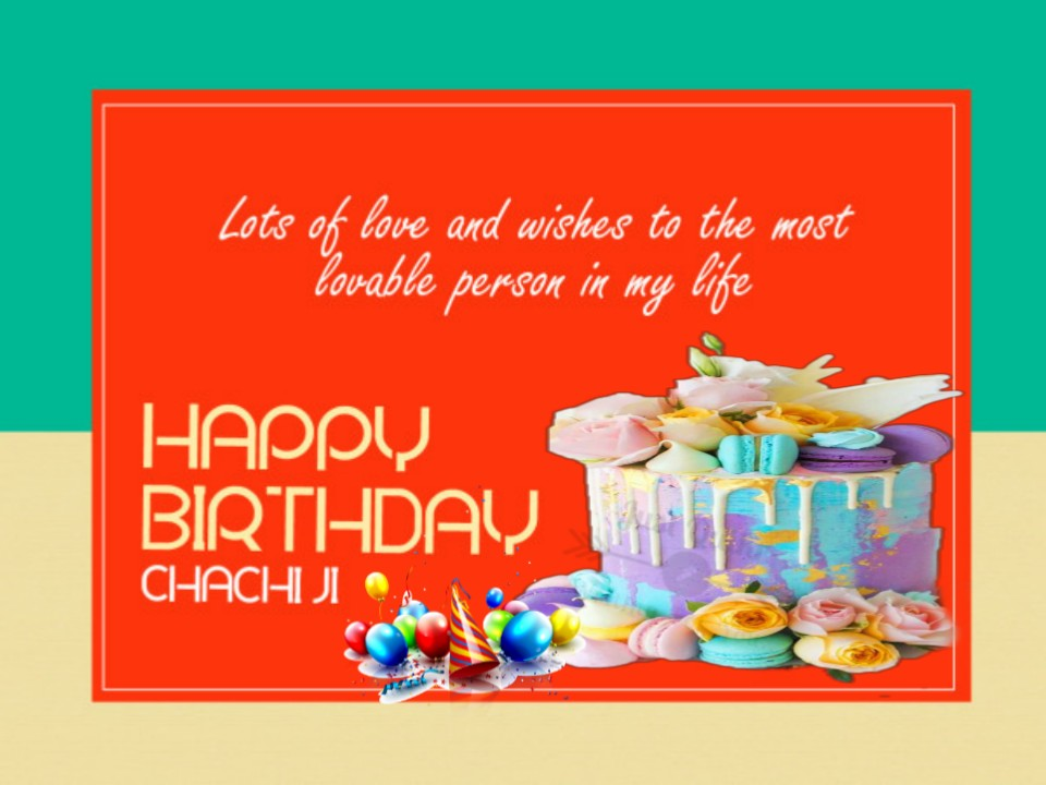 Happy Birthday Cake HD Pics Images with Wishes Quotes for Chachi Ji