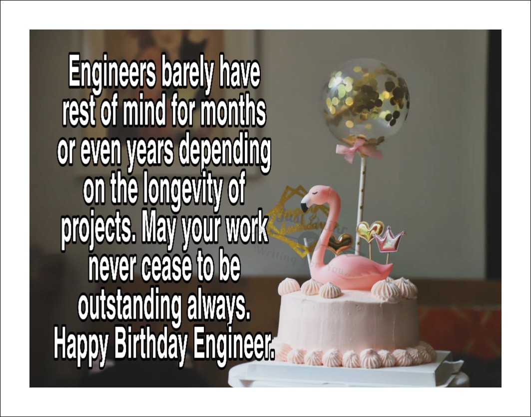 Happy Birthday Cake HD Pics Images with Wishes Quotes for Engineer