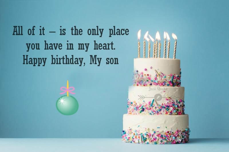 Happy Birthday Cake HD Pics Images with Wishes Quotes for My Son