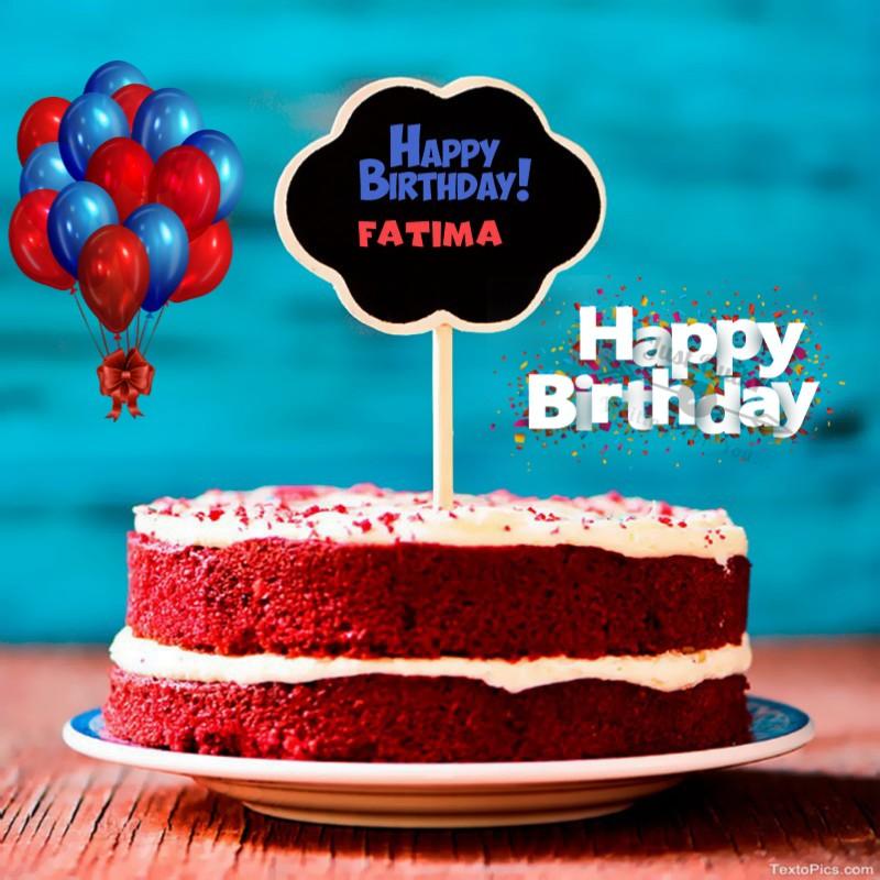 Special Unique Happy Birthday Cake HD Pics Images for Fatima