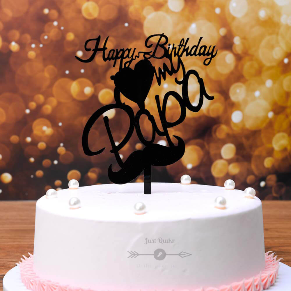 Special Unique Happy Birthday Cake HD Pics Images for Papa
