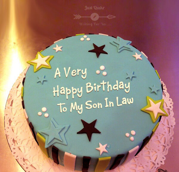 Special Unique Happy Birthday Cake HD Pics Images for Son-In-Law