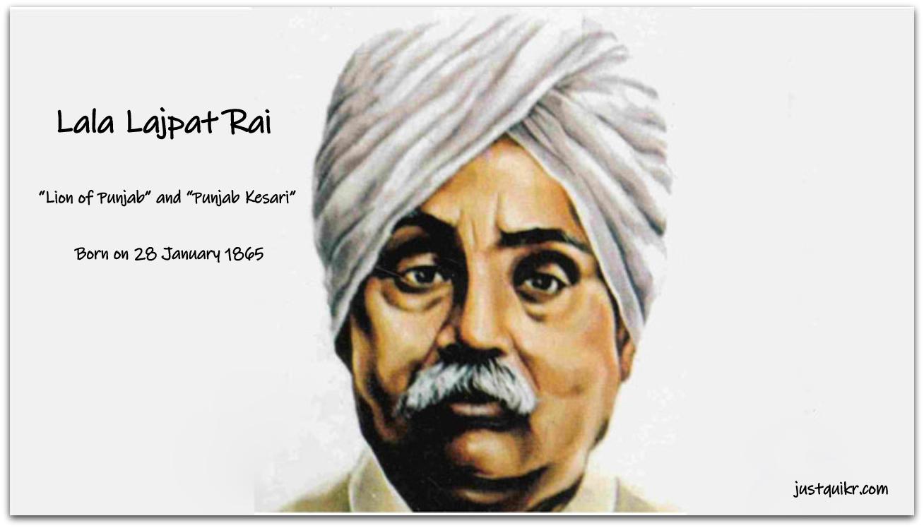 Birth anniversary of Lala Lajpat Rai