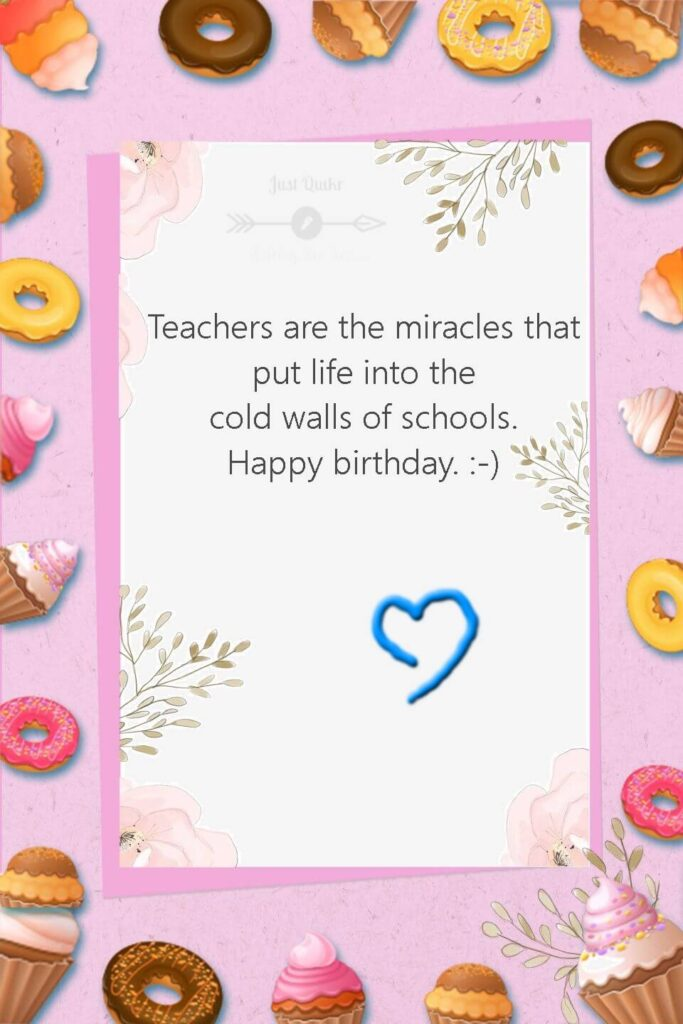 Happy Birthday Cake HD Pics Images with Wishes Quotes for English Teacher