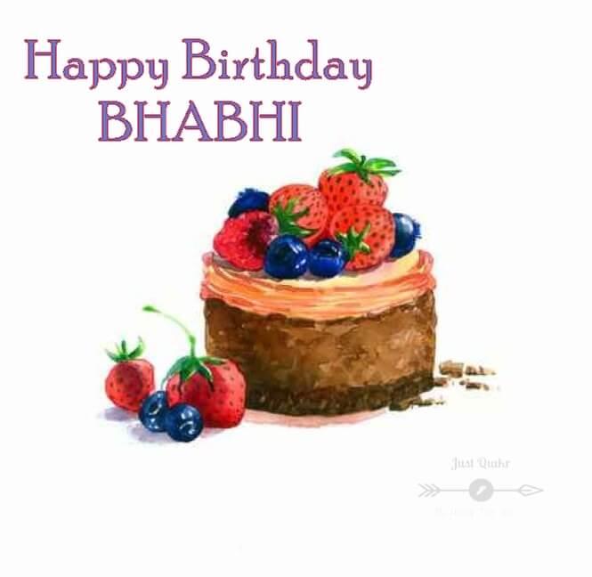 Special Unique Happy Birthday Cake HD Pics Images for Bhabhi