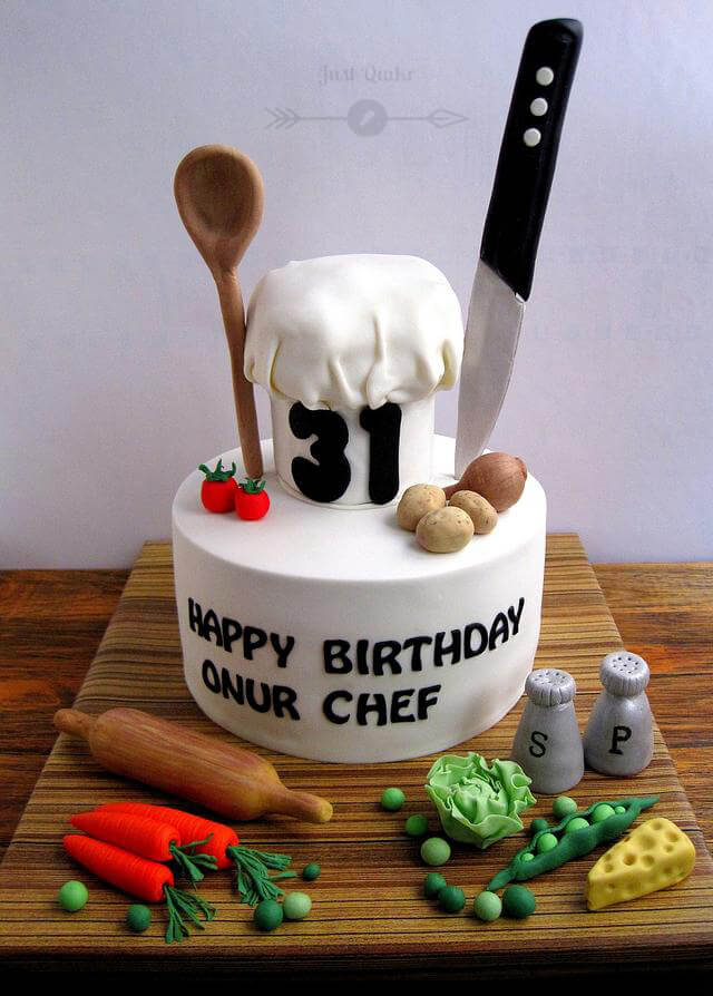 Special Unique Happy Birthday Cake HD Pics Images for Chef