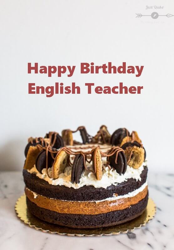 Special Unique Happy Birthday Cake HD Pics Images for English Teacher