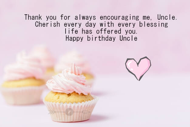 Happy Birthday Cake HD Pics Images with Shayari Sayings for Uncle in English