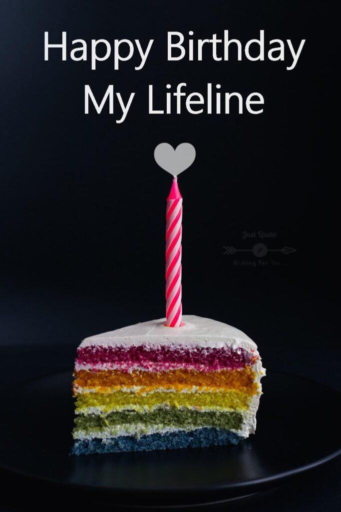 Special Unique Happy Birthday Cake HD Pics Images for Lifeline