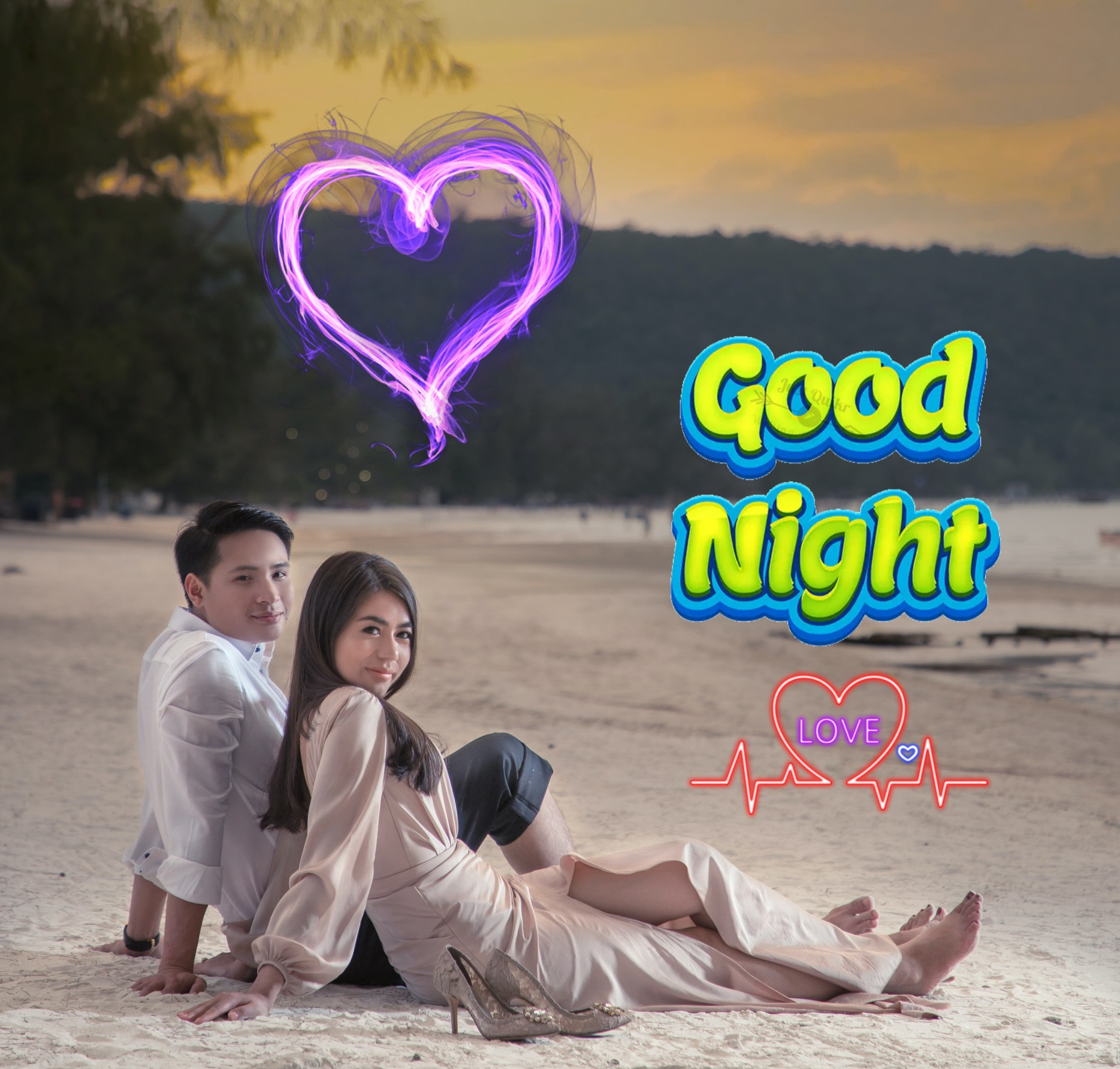 Good Night HD Pics Images For Love Couple